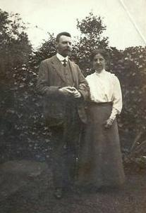 Roger Oldham with his wife Dorothy.