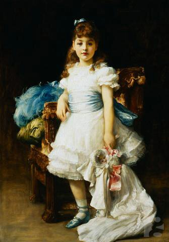 Sybil Primrose painted by Frederic, Lord Leighton in 1895
